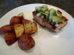 Grilled Salmon with Avacodo Salsa